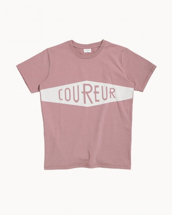 T-shirt Erstwhile Coureur Rose
