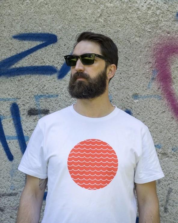 T-shirt Hjul HJ008 Orange Wave velo