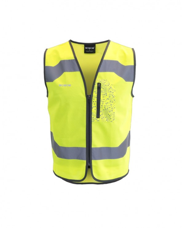 Gilet fluo Wowow Drone reflechissant