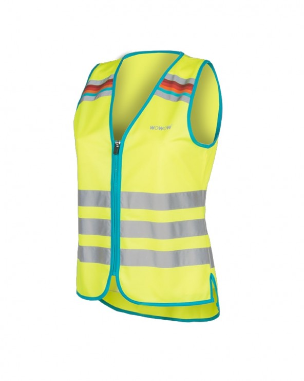 Gilet Wowow Lucy jaune fluo réflechissant